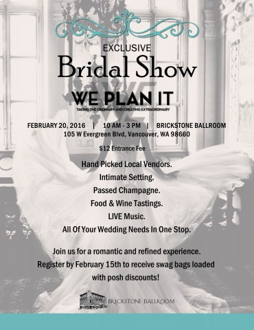 2 VANCOUVER BRIDAL SHOWS IN FEBRUARY
